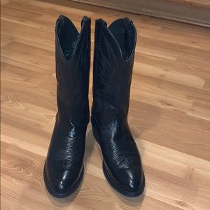Nocona western black leather boots size 10.5 D EUC